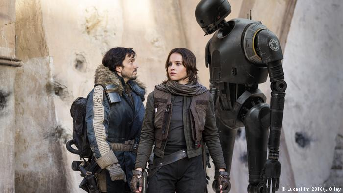 Star Wars Cassian Andor, Jyn Erso,K-2SO (Lucasfilm 2016/J. Olley)