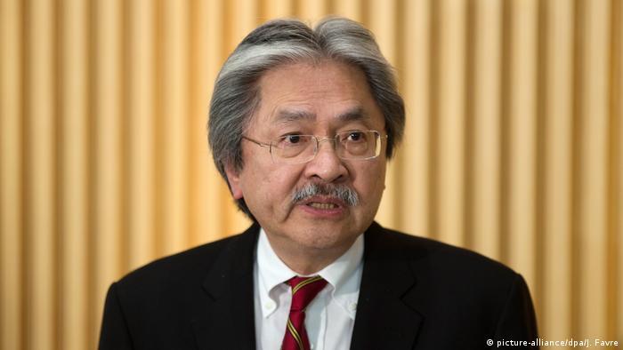 Hong Kong Finanzminister John Tsang (picture-alliance/dpa/J. Favre)