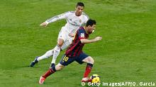 Spanien Real Madrid vs Barcelona Cristiano Ronaldo Lionel Messi