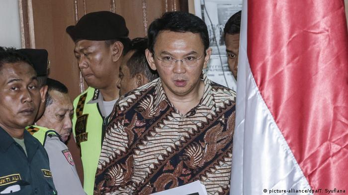 Indonesien Blasphemie Prozess Basuki Tjahaja Purnama (picture-alliance/dpa/T. Syuflana)