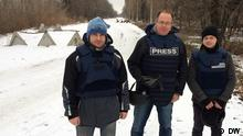 Ukraine DW Team in der Ostukraine
