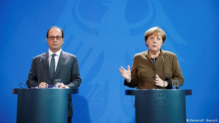 Deutschland PK Merkel und Hollande (Reuters/F. Bensch)