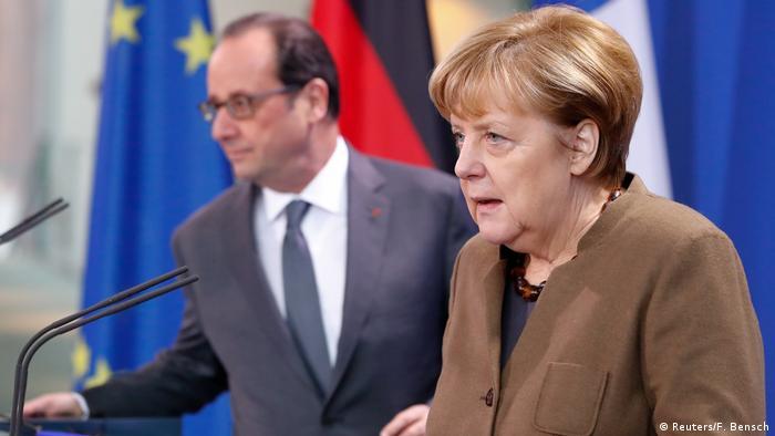 Deutschland PK Merkel und Hollande