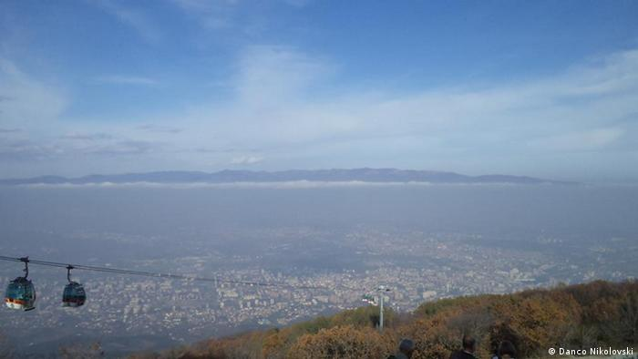 Mazedonien Blick auf die Hauptstadt Skopje