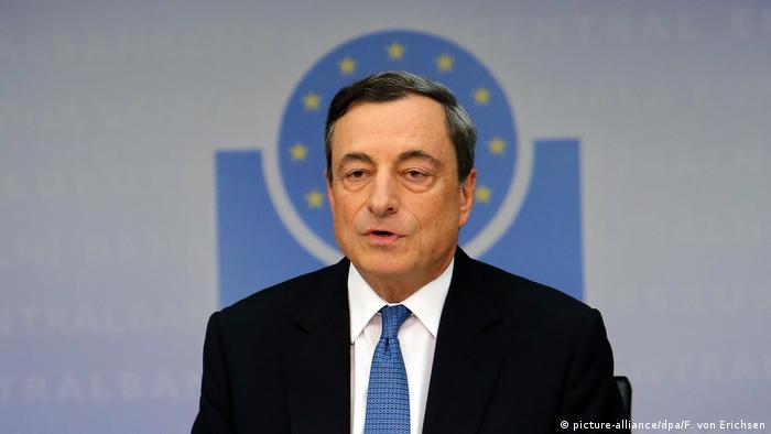 EZB Mario Dragi Leitzins bleibt auf Rekordtief (picture-alliance/dpa/F. von Erichsen)