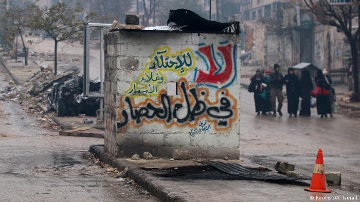 Syrien Krieg - Szene aus Aleppom, Zivilisten (Reuters/A. Ismail)