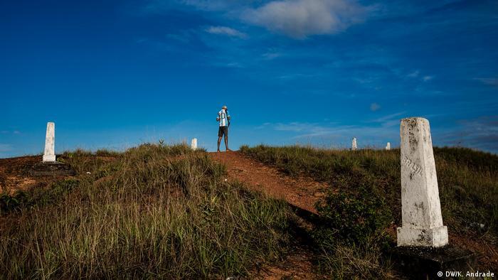 Fronteira seca entre Venezuela e Brasil, em Roraima