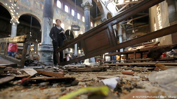 Ägypten Schäden nach der Explosion in der Coptic Kirche in Kairo