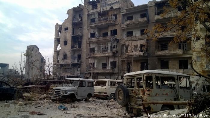 Syrien Aleppo nach der Kapitulation der Rebellen (picture-alliance/dpa/TASS/T. Abdullayev)