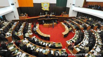 Le parlement de Côte d'Ivoire à Abidjan (Archives 21.11.2012)