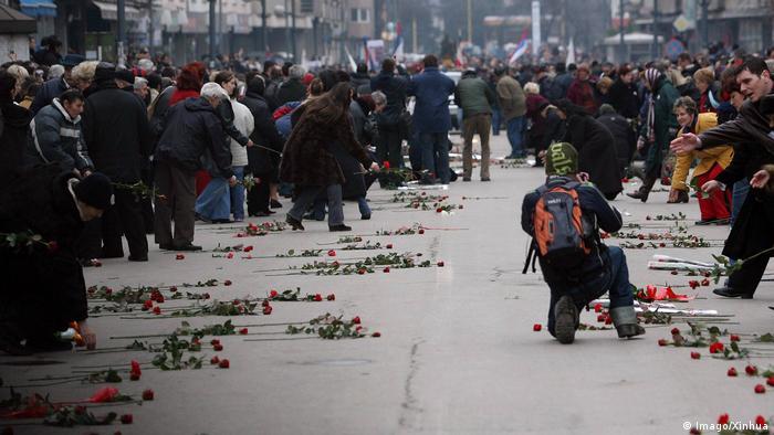 Serbien Slobodan Milosevic Begräbnis in Pozarevac