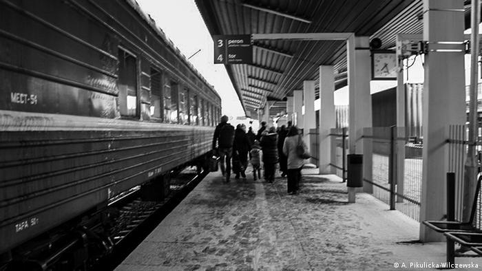 Беженцы у поезда Брест-Тересполь