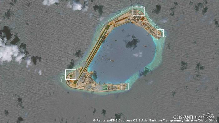 Südchinesisches Meer - Chinesische Raketen auf Inseln (Reuters/ARMS Courtesy CSIS Asia Maritime Transparency Initiative/DigitalGlobe)