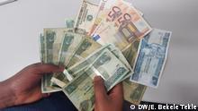 14.12.2016 Ethiopian Birr-, US Dollar- und Euroscheine