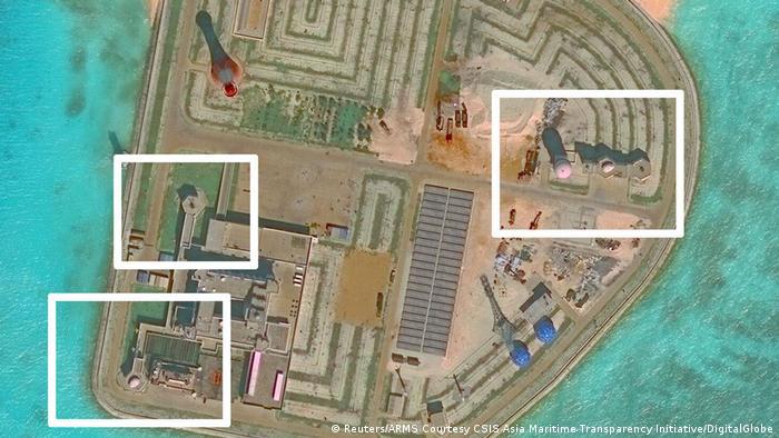 Südchinesisches Meer - Chinesische Raketen auf Inseln