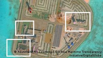 Südchinesisches Meer - Chinesische Raketen auf Inseln (Reuters/ARMS Courtesy CSIS Asia Maritime Transparency Initiative/DigitalGlobe)