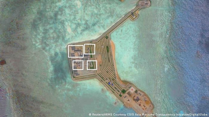Imagens de satélite revelam que a China trabalha na construção de instalações militares no arquipélago
