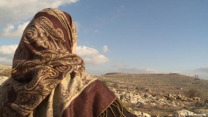 Mariam Hammad can only look at her ancestral land from afar