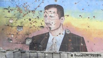 Syrien Bürgerkrieg Aleppo Wandbild Assad