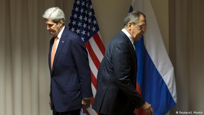 Syrien Bürgerkrieg Aleppo Kerry und Lawrow (Reuters/J. Martin)