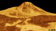 Computer generated 3-dimensional perspective view of the crater farm on Venus, consisting of the 37.3 km diameter Saskia in the foreground (28.6S,337.1E), 47.6 km Danilova (26.35S,337.25E) to the left, and 62.7 km Aglaonice to the right (26.5S,340E). The image was created by superimposing Magellan images in topography data, and coloring is based on Venera 13 and 14 Lander images. (Magellan press release P-39146) A copy of the image can be found at http://nssdc.gsfc.nasa.gov/imgcat/html/object_page/mgn_p39146.html