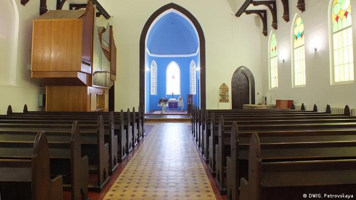 Зал для богослужений в гродненской лютеранской церкви