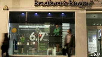 Großbritannien Finanzkrise Bradford and Bingley wird teilweise verstaatlicht