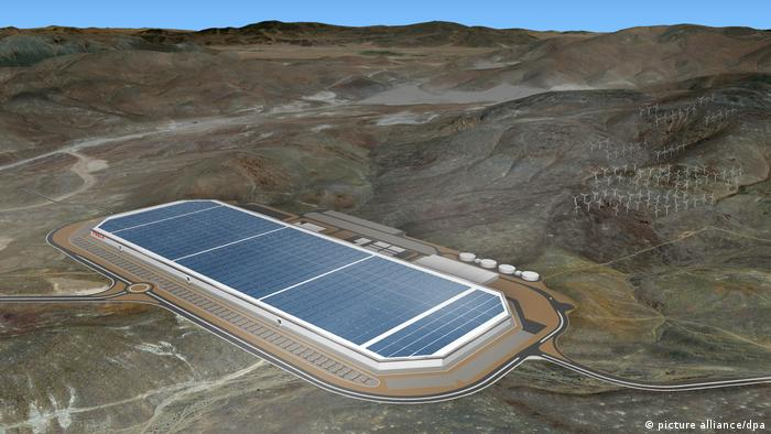 USA Tesla-Batteriefabrik Gigafactory (picture alliance/dpa)