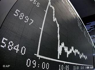 La crisis financiera se reflejó en el Índice de Acciones Alemán, DAX.