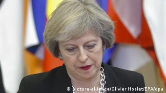 Belgien | EU-Gipfel | Theresa May (picture-alliance/Olivier Hoslet/EPA/dpa)