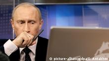 Russland Putin am Laptop