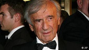 Elie Wiesel, in New York, während eines Dinners für die Elie Wiesel Foundation, im September 2008.