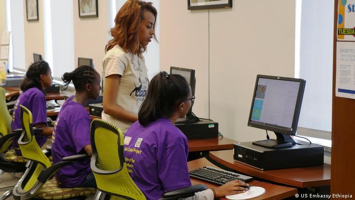 Äthiopien Botschaft Programm Girls Can code (US Embassy Ethiopia)