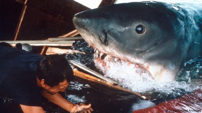 Film still from Jaws 1974 (imago/United Archives)
