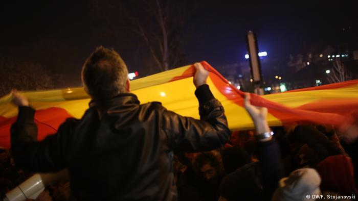 Proteste der VMRO-DPMNE-Anhänger in Skopje