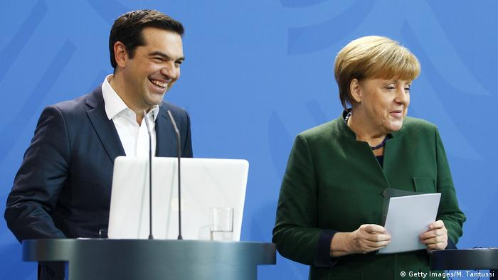 Berlin PK Alexis Tsipras & Angela Merkel (Getty Images/M. Tantussi)