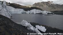 Peru schmelzende Gletscher in Huaraz