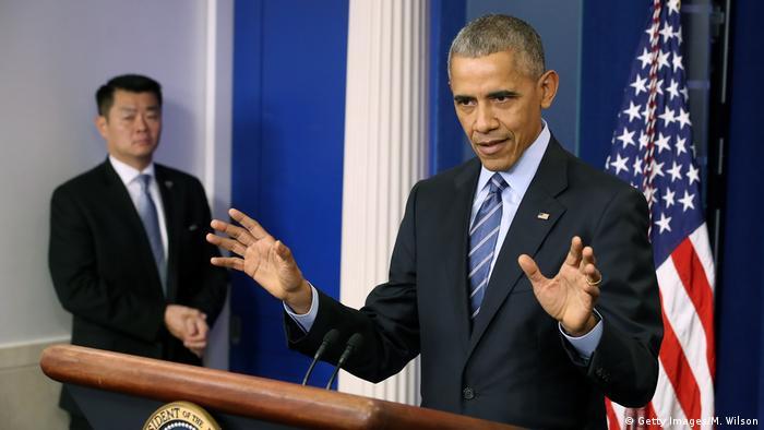 USA Pressekonferenz Präsident Barack Obama im Weißen Haus (Getty Images/M. Wilson)