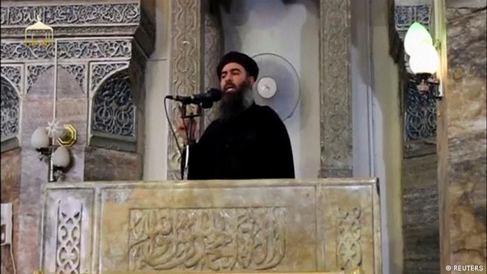 Irak | video still des mutmaßlichen IS-Führer Abu Bakr al-Baghdadi