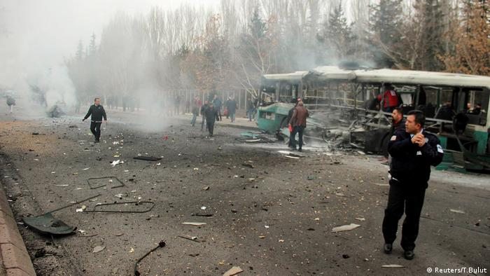 Türkei Kayseri Explosion Bus