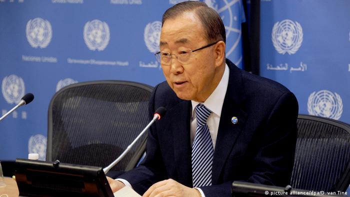 United Nations Secretary-General Ban Ki-moon Pressekonferenz