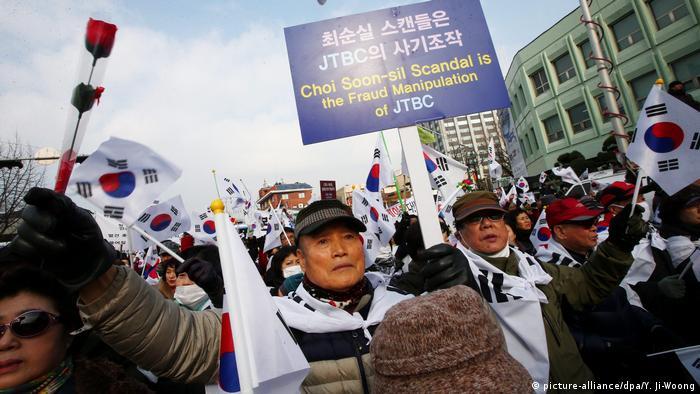 Seoul Südkorea Proteste Demonstration