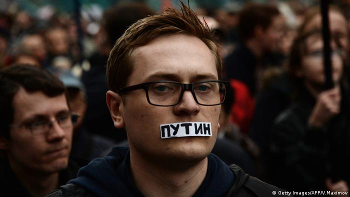 Russland Protest gegen Putin (Getty Images/AFP/V.Maximov)
