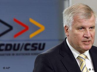 Horst Seehofer, nominee for the premiership of the Christian Social Union party CSU in Bavaria