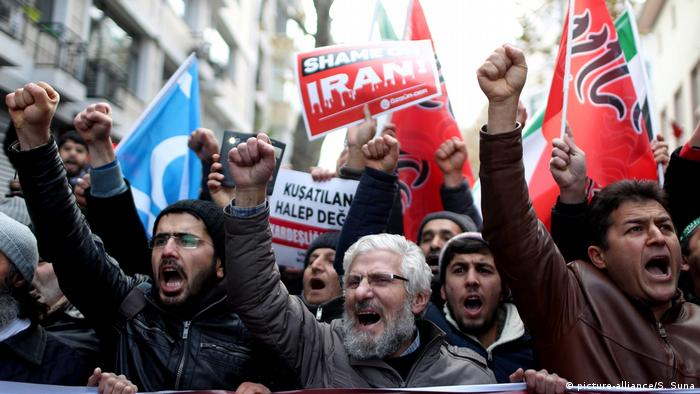 Türkei Proteste Solidarität Syrien Aleppo (picture-alliance/S. Suna)