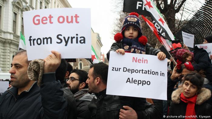 Österreich Proteste Solidarität Syrien Aleppo (picture-alliance/AA/A. Kiyagan)