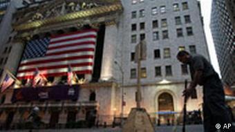 Jahresrückblick 2008 International September USA Finanzkrise New York Börse Wall Street Flagge