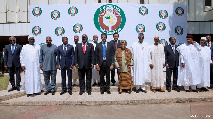 A group photo of ECOWAS leaders in 2016