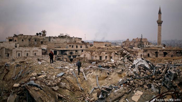 Syrien Aleppo Ruine Carlton Hotel