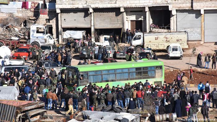 Syrien Aleppo Evakuierung